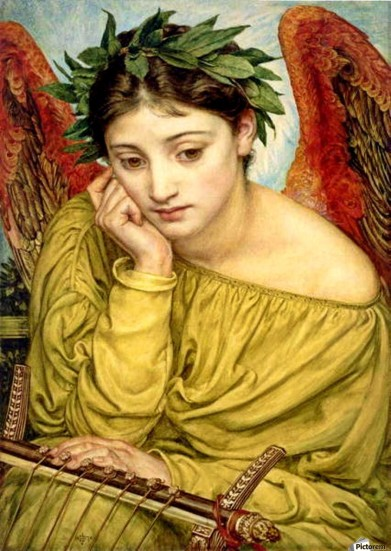 Erato, Muse of Poetry, by Edward Poynter Toile