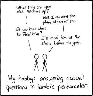 xkcd iambic pentameter